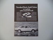 advertising Pubblicità 1978 AUDI 100