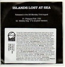 (AB824) Islands Lost At Sea, Platypus Fink - DJ CD