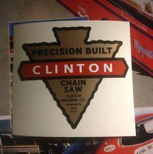 Clinton Chain Saw Engine Decal Reproduction Precision Built Maquoketa, Iowa