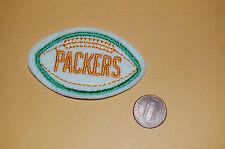 "Green Bay Packers 2 3/4"" Felt Patch Green Border Football"