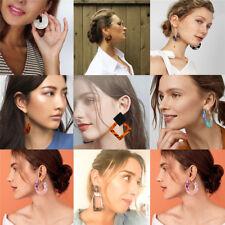 Circle Ear Stud Earrings Jewelry Fashion Women Earring Hollow Geometric Bar