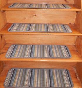13  Step  9'' x 30''  + 1 Landing 28'' x 36''  carpet Wool Woven Stair Treads.
