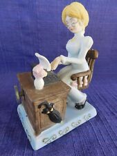 Quaint Music Box with Old Fashion Secretary & Typewriter Bisque