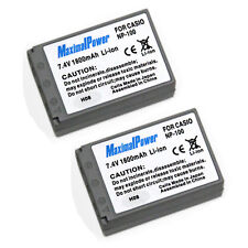 2-Pack 1800mAh BATTERY FOR CASIO NP-100 NP100 Exilim Pro EX-F1