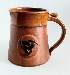 Viking Mug Odin's Horns Ceramic Handmade Tankard Norse Design Drinking Cup 20oz