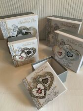 Set Of 5 Wedding Day Keepsake Bride/Groom Storage Boxes Gift Wrapping Ideal Gift