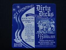 DIRTY DICKS THEATRE RESTAURANT $35 DINNER & SHOW BALLINA RSL CLUB COASTER