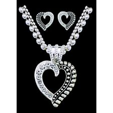 Montana Silversmiths - Twisted Rope and Crystals Heart Set - (JS1041) - New