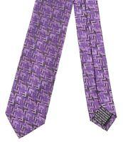 Missoni Orange Label Made in ITALY Purple Iridescent Chevron Weave Silk Tie