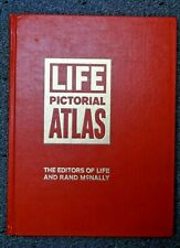 Life Pictorial Atlas of the World w/World Map, Rand McNally (Hardcover, 1961)