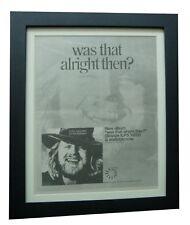 TONY HAZZARD+Alright Then+POSTER+AD+RARE+ORIGINAL 1973+FRAMED+FAST GLOBAL SHIP