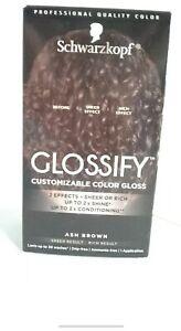 Schwarzkopf Glossify Ash Brown Hair Color Demi-permanent Gloss Sheer