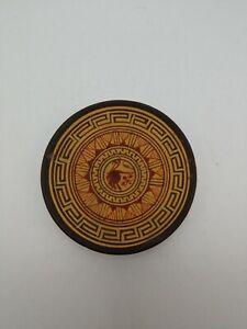 "2.75"" Handmade Ceramic Pottery or Terracotta Greek Greece Trinket Dish Plate"