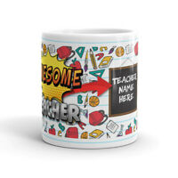 Awesome Teacher Custom Personalized School Class Appreciation Gift Coffee Mug