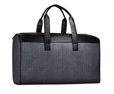 John Varvatos black gray leather DUFFLE WEEKENDER TRAVEL OVERNIGHT hand BAG new