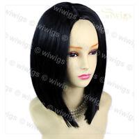 Wiwigs Amazing Medium Jet Black Soft Face Framed Bob Skin Top Ladies Wig