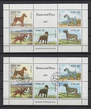 chiens de race Irlande Eire 1983 2 feuillets neuf et oblitéré  / T751