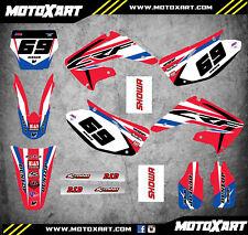 Honda CR 250 - 2002 / 2012 Full Custom Graphic Kit SLEEK Style sticker kit