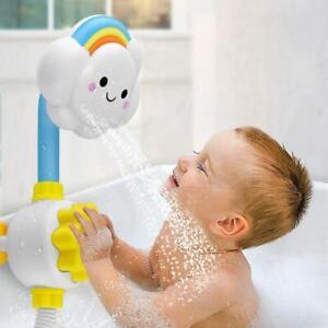 Baby Bath Toy Children rainbow Cloud Spray Water Shower Tub Faucet Bathroom XC