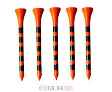 Longridge 69mm Tiger Golf Tees - Orange & Black Striped Tees Pack Of 30  *NEW*