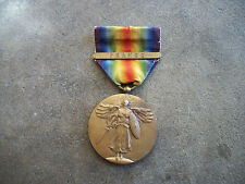 WWI era US Victory Medal France battle bar pin F