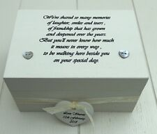 Shabby Personalised Chic Gift For Bride From Bridesmaid Wedding Day Keepsake Box