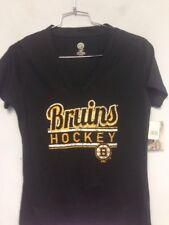 Boston Bruins Hockey Girls Medium (M) 8/10 V-Neck Short Sleeve Tee T-Shirt NWT