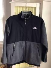 The North Face boys gray black denali fleece jacket Sz XL