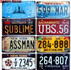 USA NEW YORK 125 ASSMAN Novelty Car License Plate Retro Tin Sign Vintage Plaques