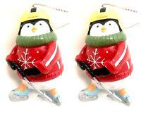 Kurt Adler Penguin Ice Hock Skis Ice Skates Christmas Ornaments Vtg 2007 Lot 2