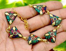 Nepal Fashion Banjara Multi Brass Tibetan Designer Jewelry Bracelet BTB612