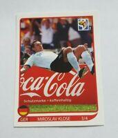 Panini WM 2010 Coca Cola 3 / 4 Miroslav Klose Salto Torjubel World Cup 10
