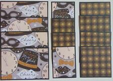 #2111 HAPPY NEW YEAR NEW YEARS EVE 12 PIECES SCRAPBOOK MAT SET CARD MAKING TONYA