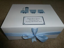 Baby Keepsake Box Personalised Train New Baby Boy Memory Box Gift Christening