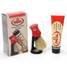 Confezione regalo Pennello setola crema da barba all' olio di eucalipto Omega