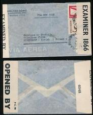 ARGENTINA WW2 AIRMAIL to ZURICH DOUBLE CENSORED BERMUDA INTERCEPTED 1866 + 6048