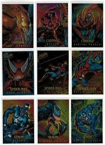 1995 Spider-Man Fleer Ultra Golden Web or Masterpieces Chrome Chromium You Pick