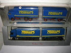 2 x 1/87 SCALE HO HERPA 1 X MERCEDES BENZ TRUCK & TRAILER & SCANIA TRUCK  RIECK