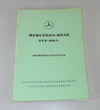 Manuale di istruzioni/owner'S MANUAL MERCEDES w121 Ponton 190 B STAND 08/1960
