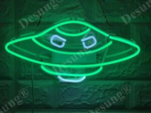New Alien UFO Neon Sign Light Lamp Acrylic Tube Glass Decor Bar Multiple Colors