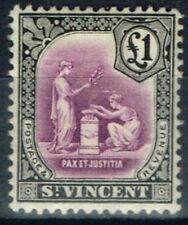 Lightly Hinged Single British St Vincentian Stamps