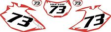 2007-2011 Yamaha WR450F Pre-Printed White Backgrounds with Red Shock Series