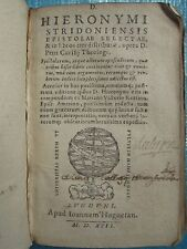 CANISIUS / VITTORI : ST JERÔME EPISTOLAE SELECTAE, 1592.