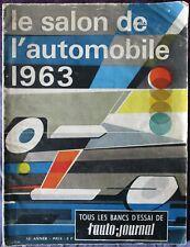 Revue Salon de l'automobile. L'auto-journal de 1963