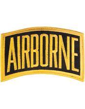 "N-002 Airborne Tab Gold on Black 6"" x 3.5"""