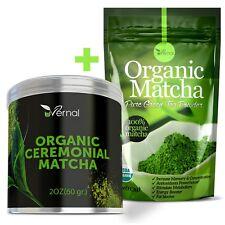 ▶ Ceremonial Grade Organic Matcha Green Tea Powder + Unsweetened Culinary Matcha