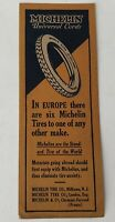 Michelin Tire Bookmark Advertising Vintage Ad Michelin Tyre