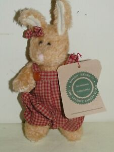 Vintage Boyd's Bears Plush Toy Jointed Bunny Rabbit 7in circa 1990s with Tags