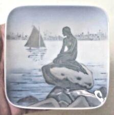"Royal Copenhagen 4228 Langelinie 4"" Trinket Dish Tray - Little Mermaid"