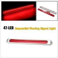 "17"" Red Hi Mount Center Bar 47 LED Stop Turn Tail Light Trailer Truck 4 Wires"